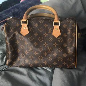 Unauthentic genuine leather speedy bag
